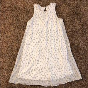 White and Gray Polka Dot Dress